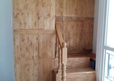 پله چوبی , دکوراسیون پذیرایی سبک روستیک