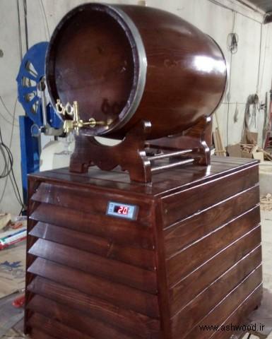 بشکه چوب بلوط با سیستم خنک کننده , فروش بشکه بلوط