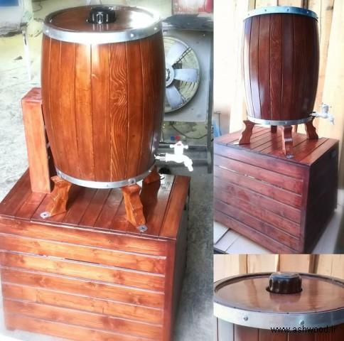 بشکه چوب بلوط با سیستم خنک کننده