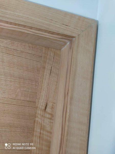 درب چوبی روکش بلوط امریکایی , ترکیب زیبایی از روکش چوب بلوط