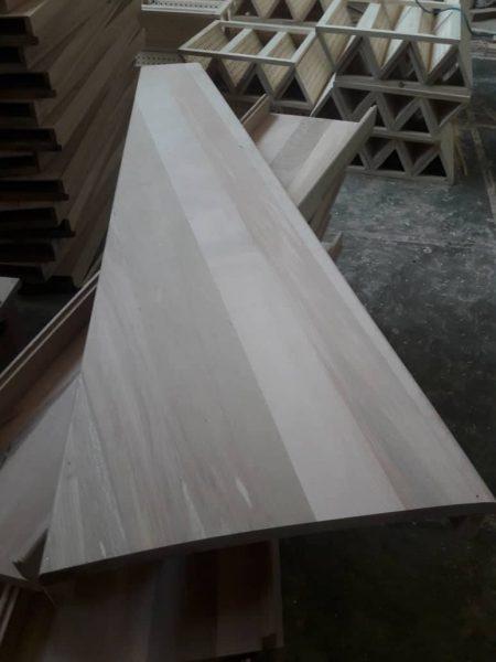 کف پله چوب راش , ساخت کف پله و کاور پله فلزی