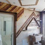 دکوراسیون ویلای چوبی ، دیوارکوب ، کفپوش و سقف کاذب چوبی ، نرده و پله چوبی
