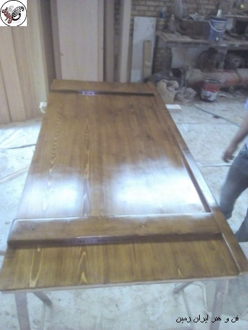 ساخت درب چوبی به سفارش بازیگر محبوب رضا کیانیان