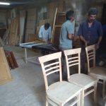 کارگاه گروه فن و هنر ایران زمین ، ساخت درب ، میز و صندلی چوبی