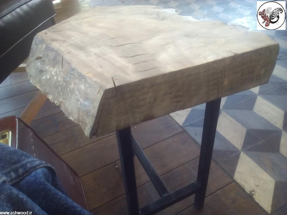 میز اسلب ،تخته گردو برای میز سبک روستیک