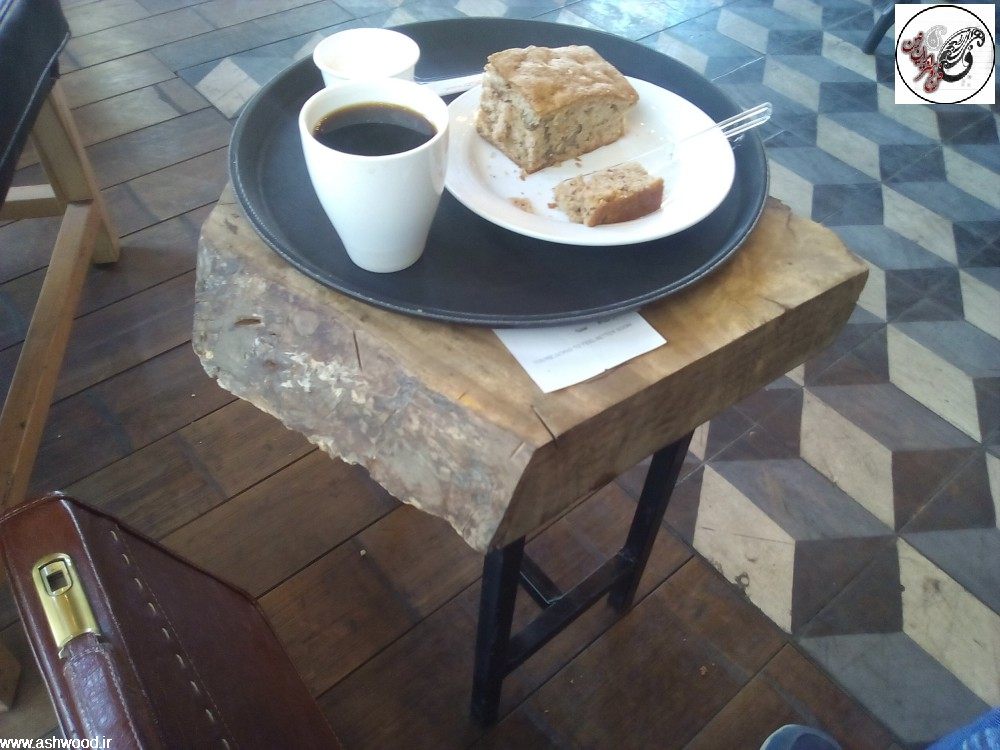 میز قهوه خوری ، میز اسلب ،تخته گردو برای میز سبک روستیک