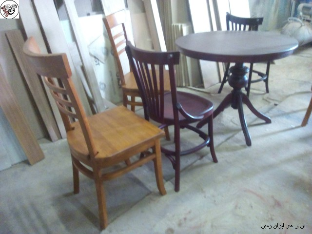 دکوراسیون چوبی منزل , میز و صندلی چوبی