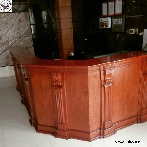 طراحی میز لابی, طراحی و ساخت میز کانتر ورودی ساختمان