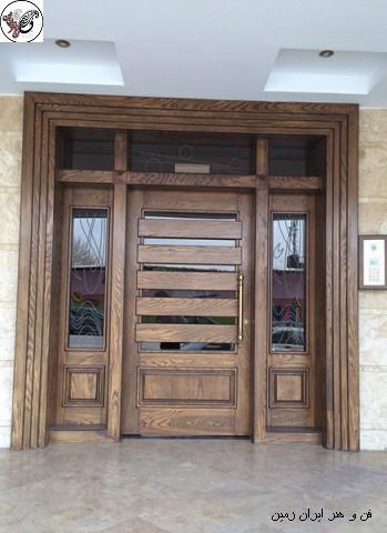 درب تمام چوب چیست ؟  ساخت انواع دربو پنجرهچوبی
