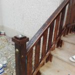 نرده بالکن ، نرده چوبی ، چوب کاج روسی