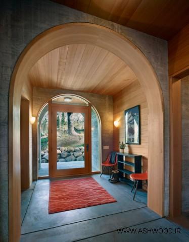 15 مدل از بهترین طراحی درب ورودی خانه ویلایی سبک روستیک