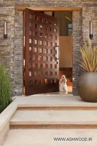 ورودی خانه , درب ورودی سبک روستیک