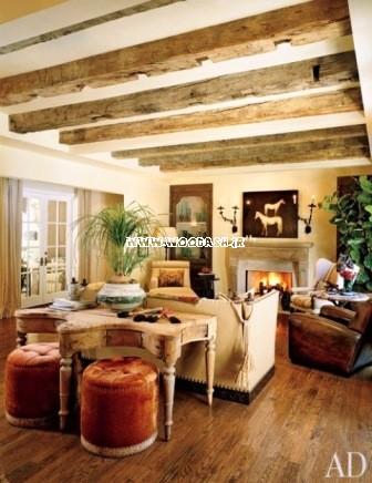 دکوراسیون روستیک ، میز چوبی روستیک ، طراحی داخلی سبک معماری روستیک ، روستایی ، سنتی سبک قدیمی