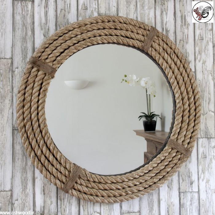 طناب تزئینی ، طناب کنفی ، سبک روستیک و طناب کهنه ، پارچه گونی روستیک