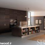 چوب بلوط در دکوراسیون آشپزخانه