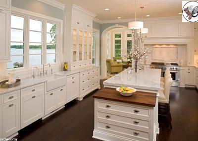 درب و دکوراسیون چوبی کابینت آشپزخانه