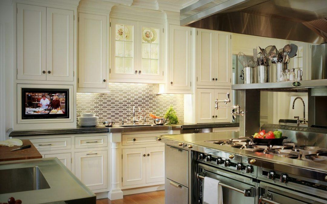 کابینت آشپزخانه جدید 2017 ، آبی بی انتها و قرمز
