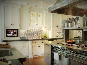 ایده و تصاویر جدید از کابینت سفید و استیل آشپزخانه چوبی