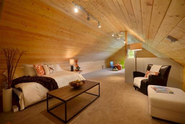 لمبه سقف ، سقف کاذب چوبی