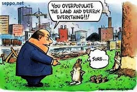 عکس کاریکاتور  کنترل رشد جمعیت