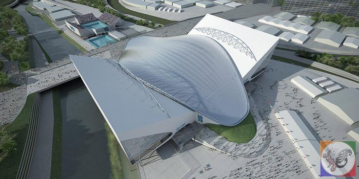 مرکز آبی المپیک لندن آثار زها حدید طراحی و معماری