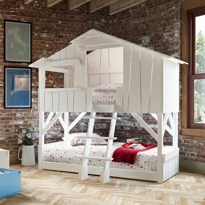 کلبه چوبی برای کودکان، کلبه بازی , تخت خواب کلبه ای کودک
