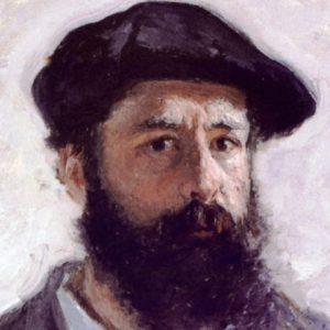 عکس نقاش فرانسوی  اوسکار-کلود مونهبنیانگذار نقاشی دریافتگری (امپرسیونیسم)