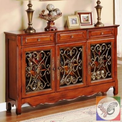 انواع میز کنسول چوب و رزین با قاب آینه