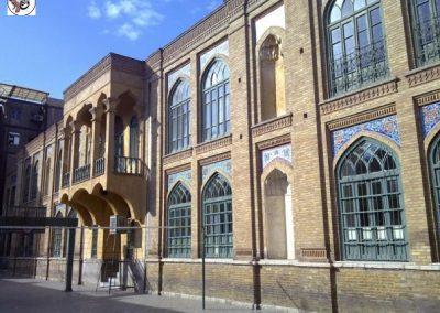 عکس از تهران قدیم مدرسه فیروز بهرام , خیابان جمهوری