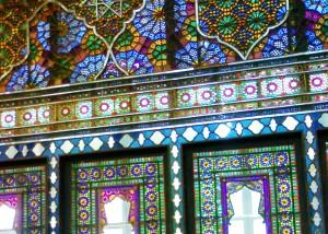 کاخ گلستان اثر گره چینی با چوب شیشه و آینه
