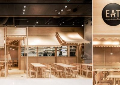 طراحی و ساخت نیمکت ، صندلی و سقف رستوران