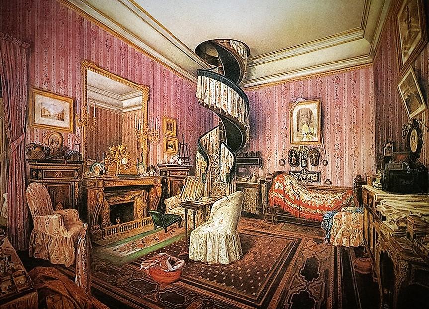 رمان نویسها مدتها با روانشناسی طراحی داخلی هماهنگ شده اند. اما چنین اتصالات قبل از انتشار در سال 1958 از La casa della vita ماریو پرز، در غیر علمی کمتر رایج بود
