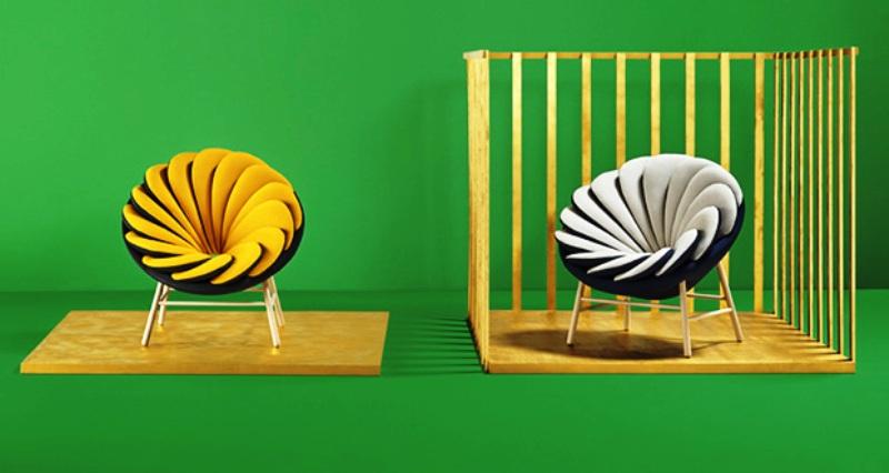 طراحی مبلمان با تأثیرپذیری از کانسپت پرنده لانه کَن