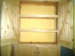 دکوراسیون چوبی ساخته شده از چوب کاج روسیه