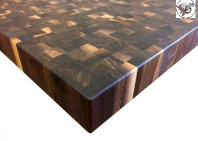 صفحه کابینت آشپزخانه سبک روستیک , چوب گردو مشکی افریقایی