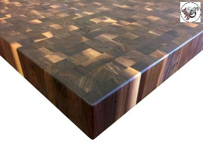 صفحه کابینت آشپزخانه و جزیره اشپزخانه سبک روستیک تمام چوب گردو