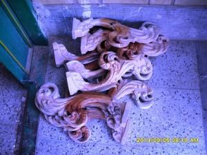 چند نمونه منبت چوب راش
