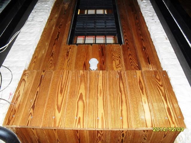 پنجره چوبی و نمای چوب ترمو وود ( چوبهای فراوری شده فنلاندی از نوع pine )
