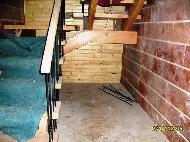 پله چوبی پروژه مشاء چوب راش المان پله تمام چوب
