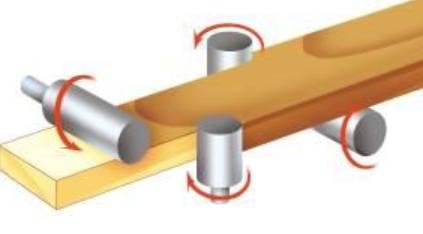 شکل 7 - برش محل های معیوب خالی در اره های متقاطع انجام می شود