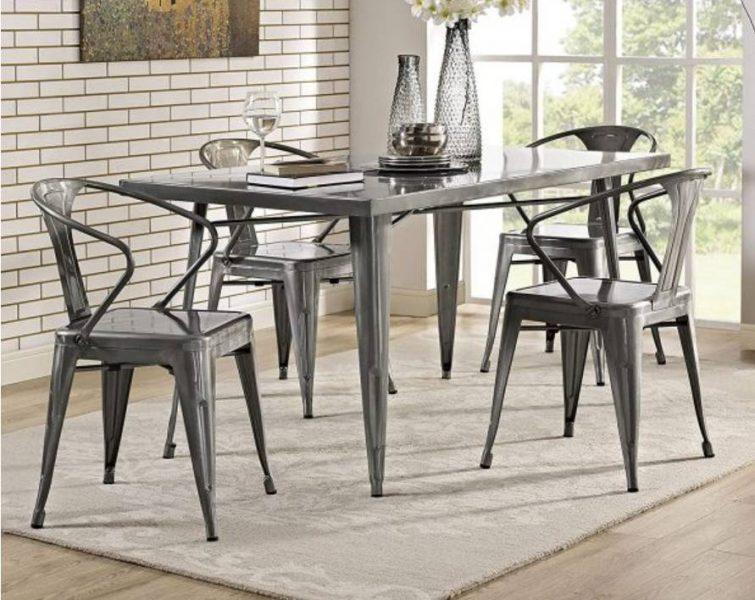میز اتاق ناهار خوری مدرن مستطیل فلزی