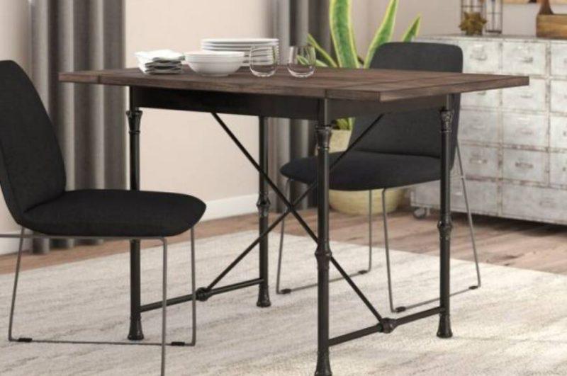 میز ناهار خوری مستطیل چوبی
