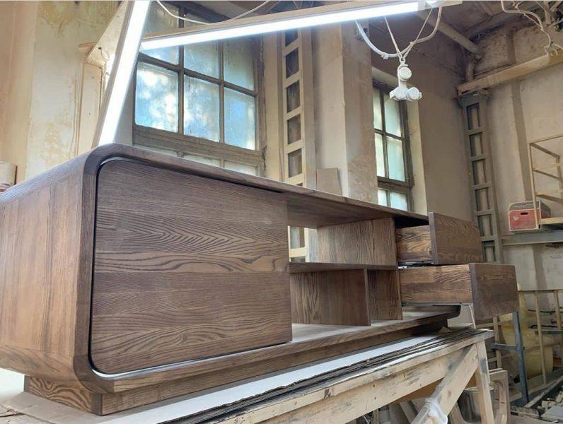 میز تلویزیون چوب بلوط