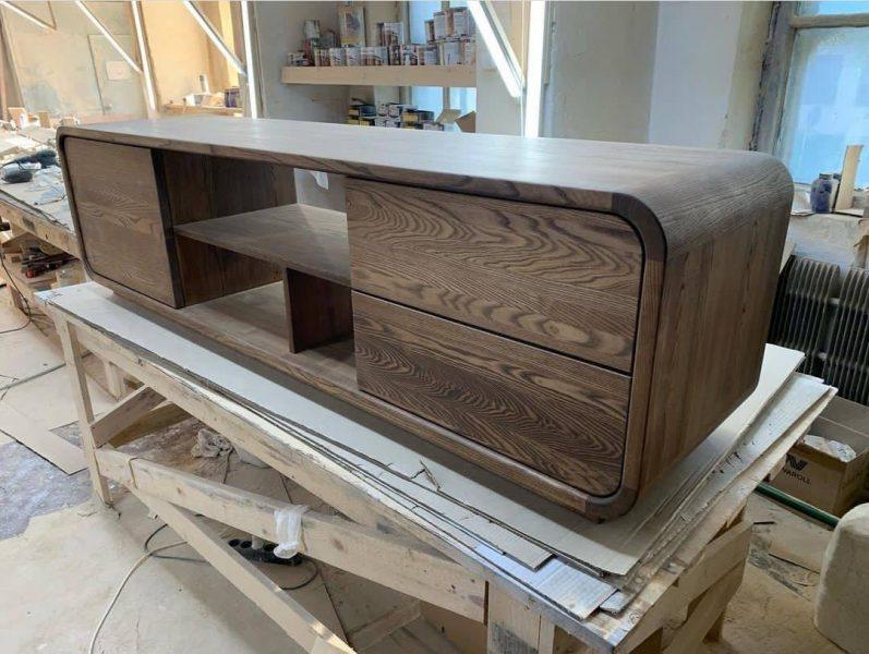 میز تلویزیون چوب بلوط , دکوراسیون چوبی لوکس
