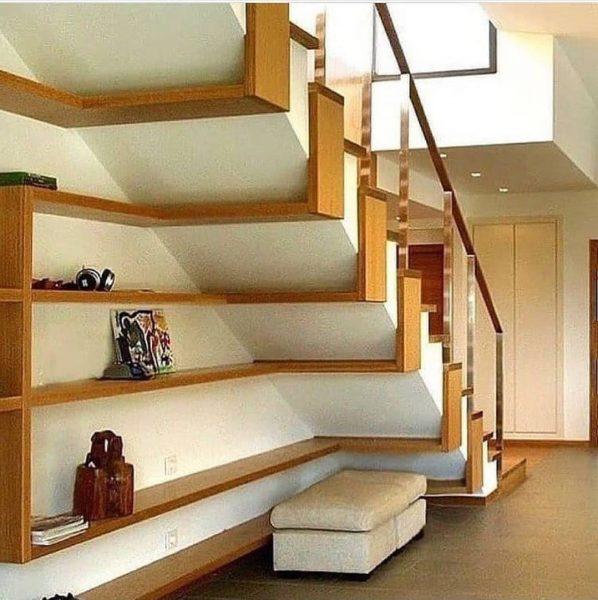 دیزاین زیر پله , طبقه و کمد زیرپله , اجرای پله چوبی