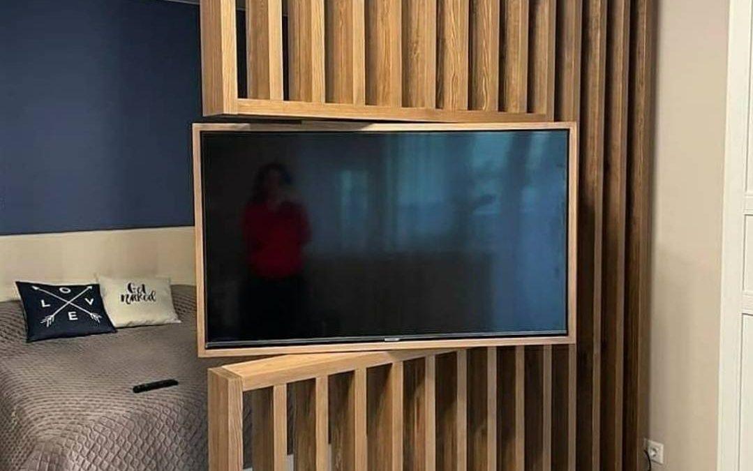 دیوار تلویزیون ال سی دی چوبی LCD