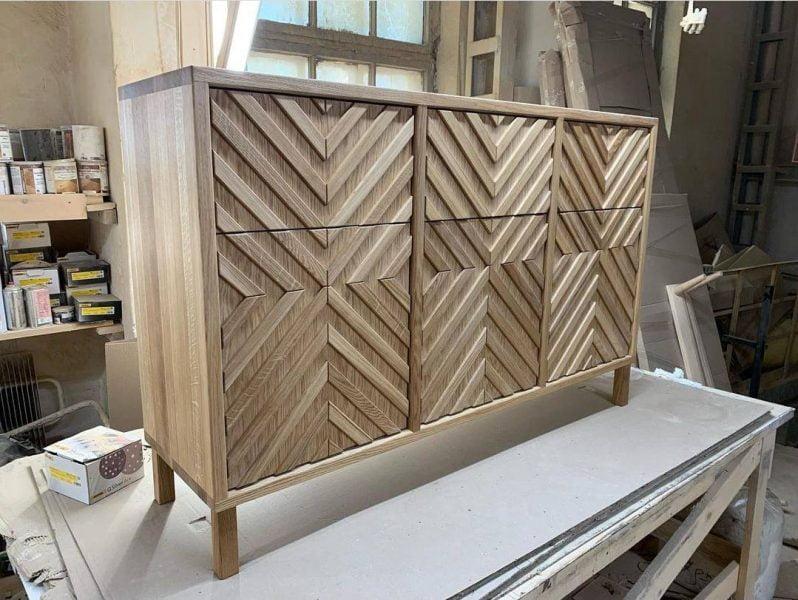 میز کنسول چوبی ، کنسول چوب بلوط