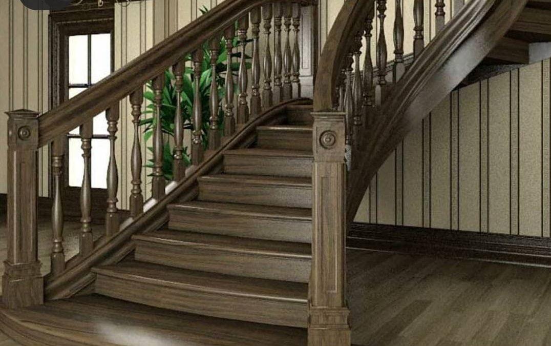 ایده و مدل پله چوبی لوکس با چوب
