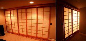 شوجی درب ژاپنی یک ایده عالی برای خانه های کم نور