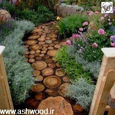 ایده هایی برای تزئین با تنه درخت ، چوب کهنه ، ساخت فضای بیرون ویلا و آلاچیق